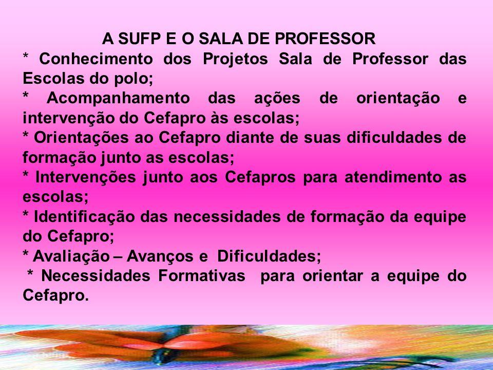 A SUFP E O SALA DE PROFESSOR