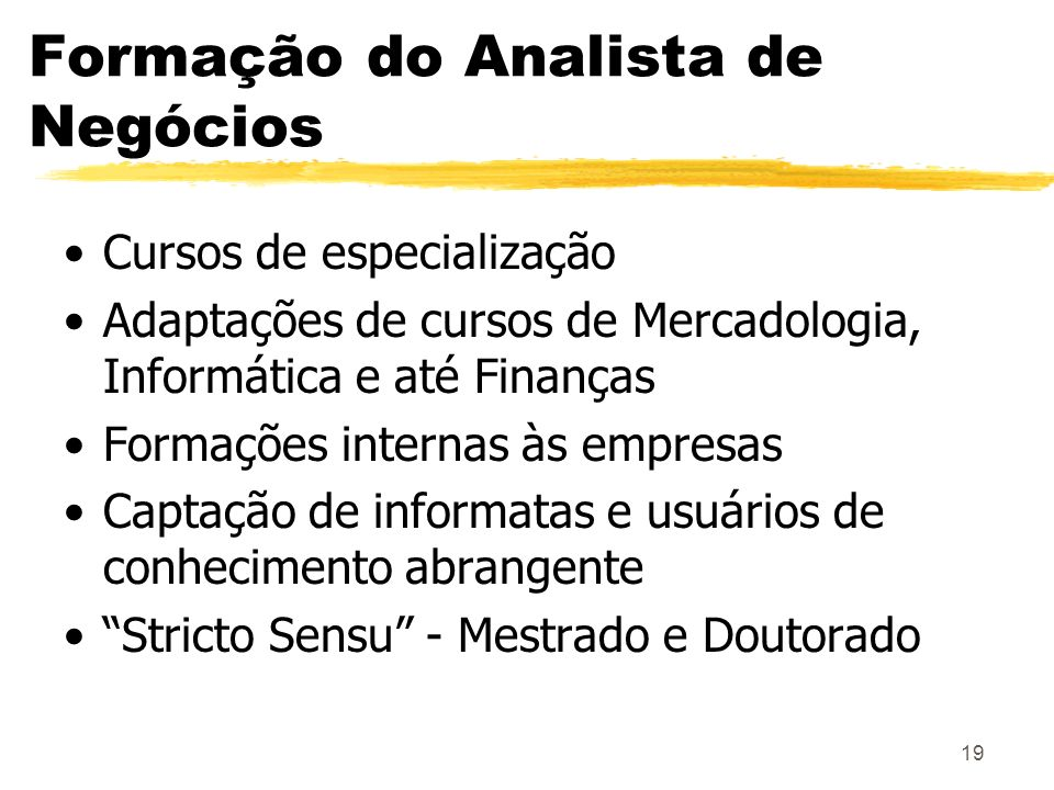 Formação do Analista de Negócios
