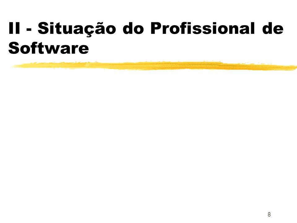 II - Situação do Profissional de Software
