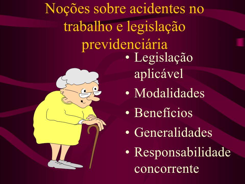 Noções sobre acidentes no trabalho e legislação previdenciária