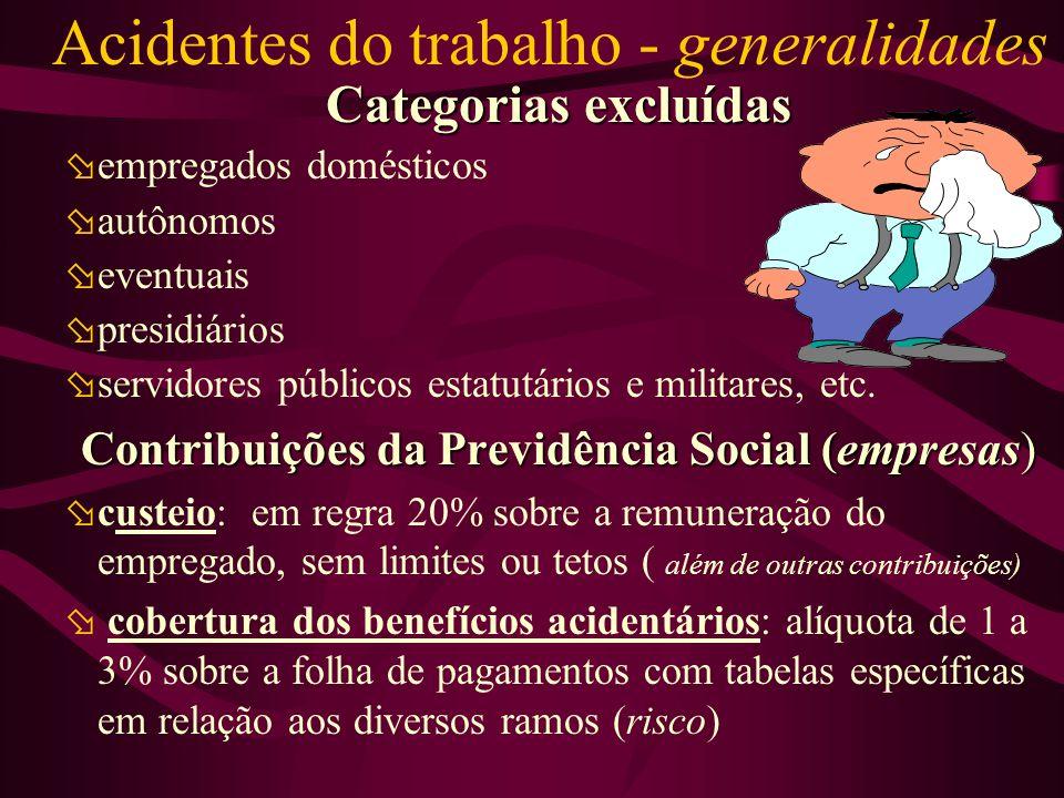 Acidentes do trabalho - generalidades