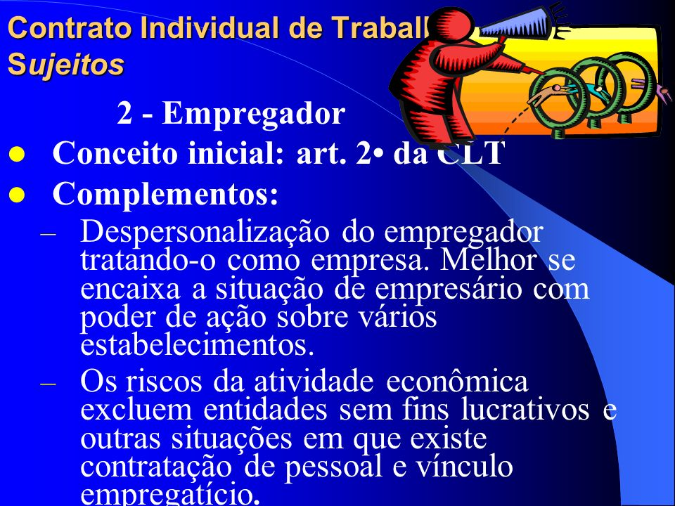 Contrato Individual de Trabalho Sujeitos