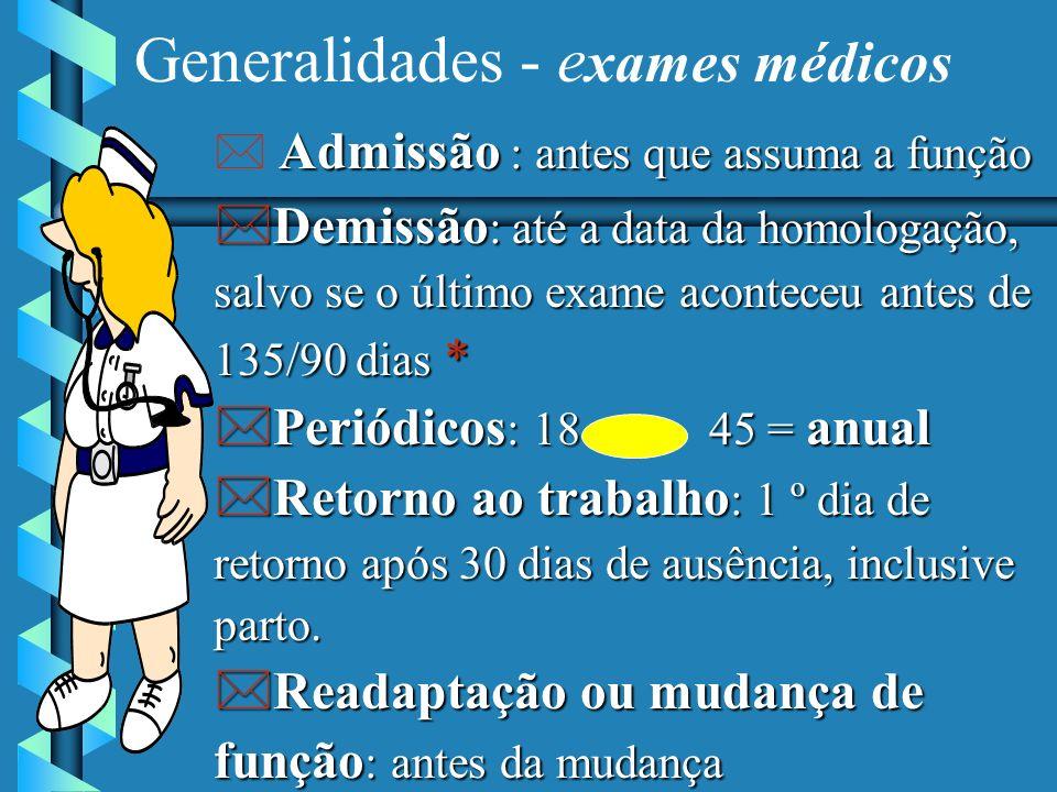 Generalidades - exames médicos