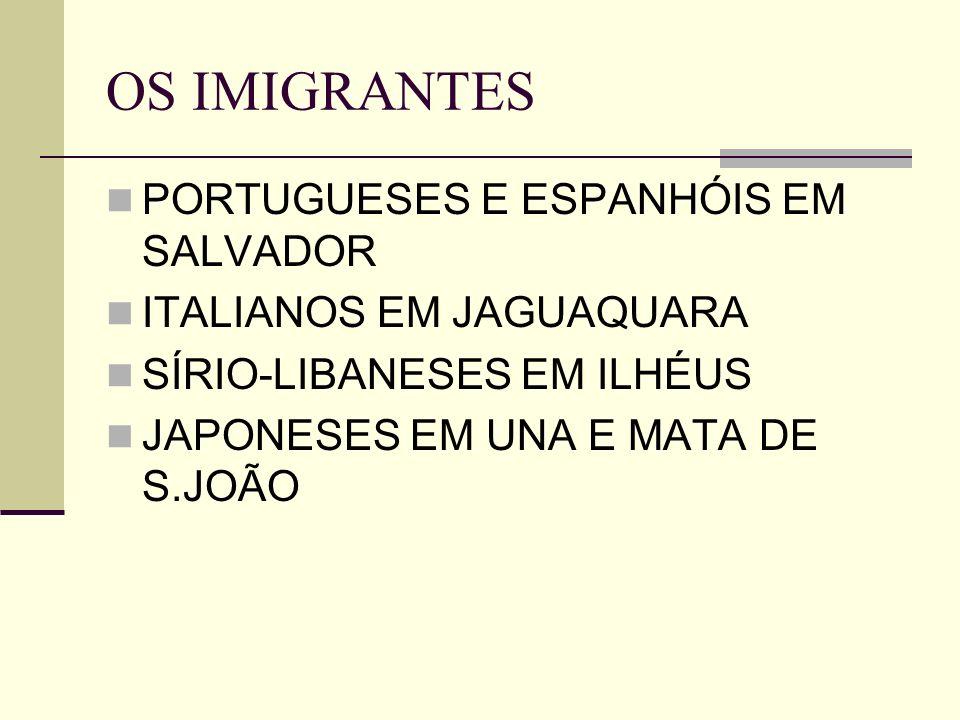 OS IMIGRANTES PORTUGUESES E ESPANHÓIS EM SALVADOR