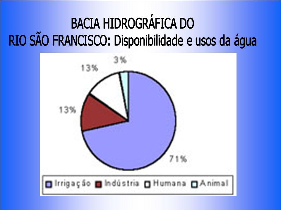 RIO SÃO FRANCISCO: Disponibilidade e usos da água