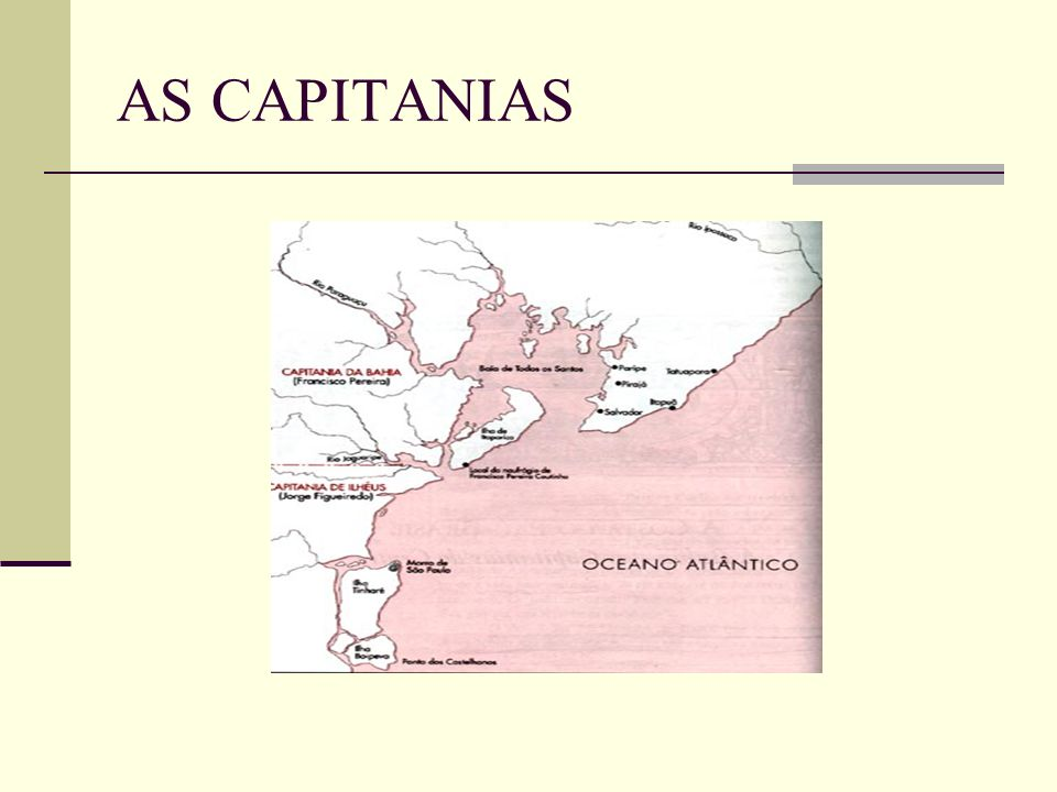 AS CAPITANIAS