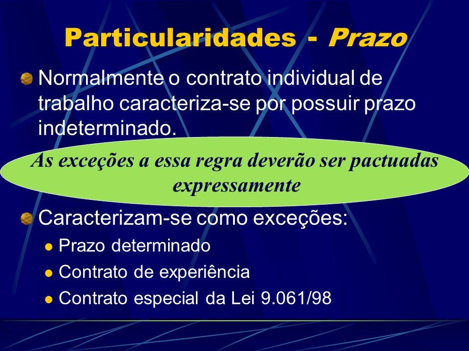 Particularidades - Prazo