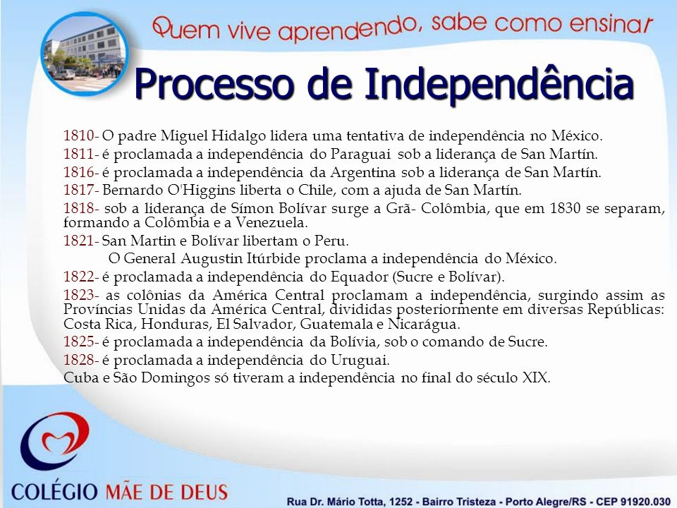 Processo de Independência