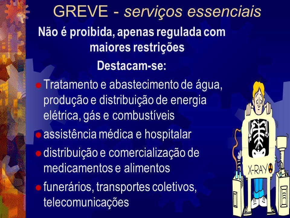 GREVE - serviços essenciais