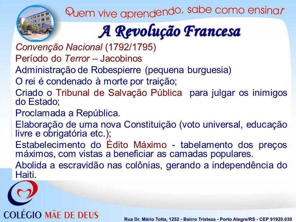 A Revolução Francesa Convenção Nacional (1792/1795)