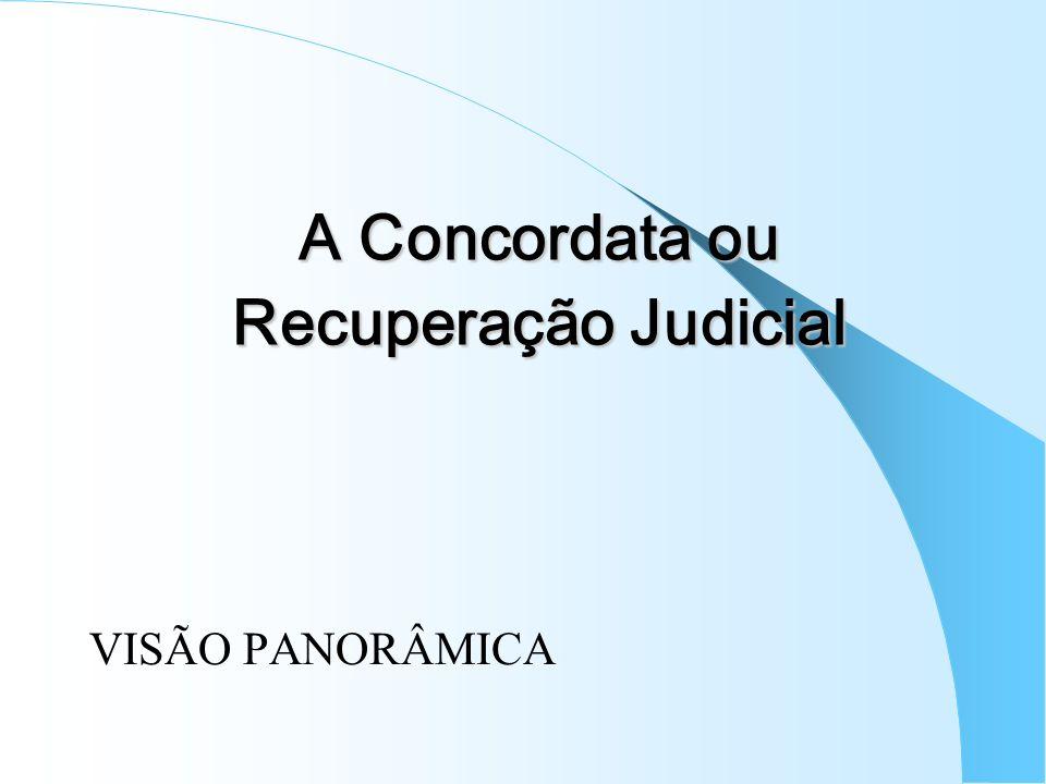 A Concordata ou Recuperação Judicial