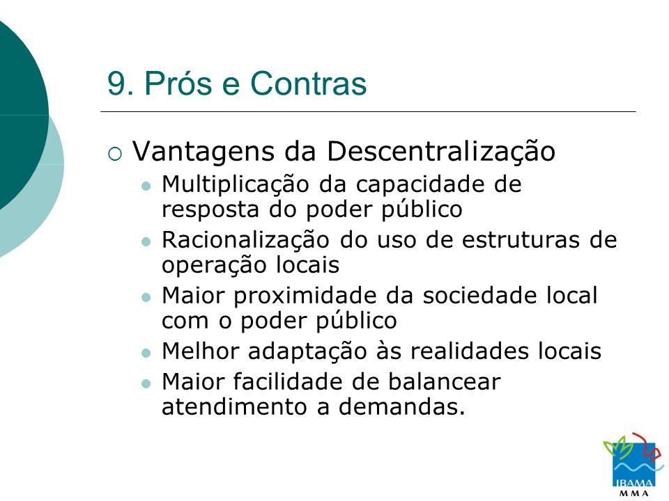 9. Prós e Contras Vantagens da Descentralização