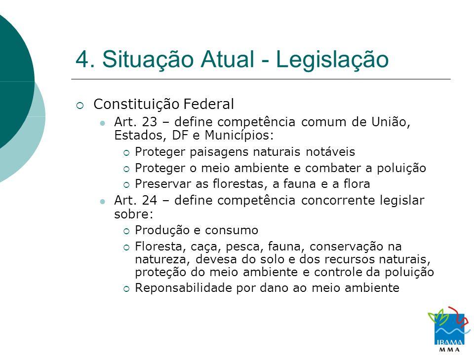 4. Situação Atual - Legislação