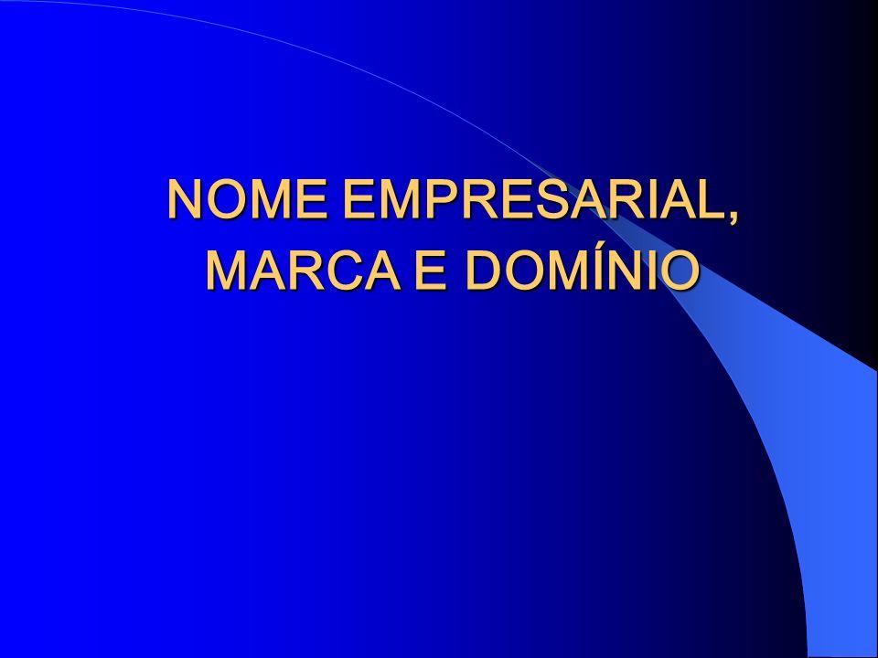 NOME EMPRESARIAL, MARCA E DOMÍNIO