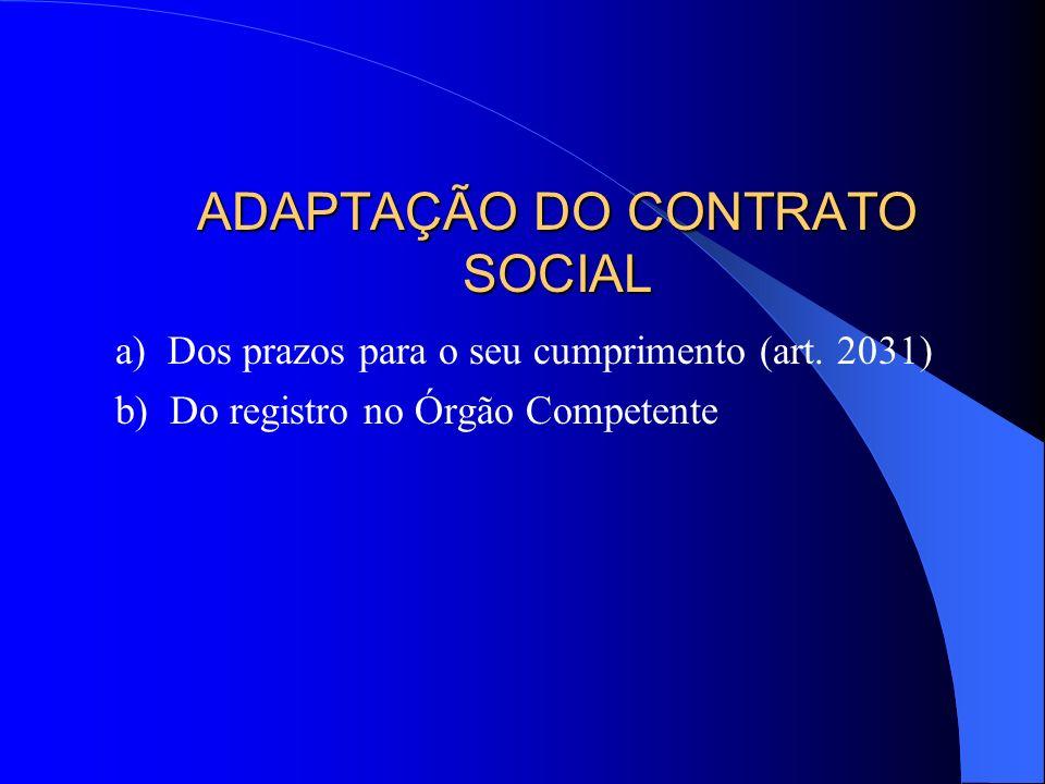 ADAPTAÇÃO DO CONTRATO SOCIAL