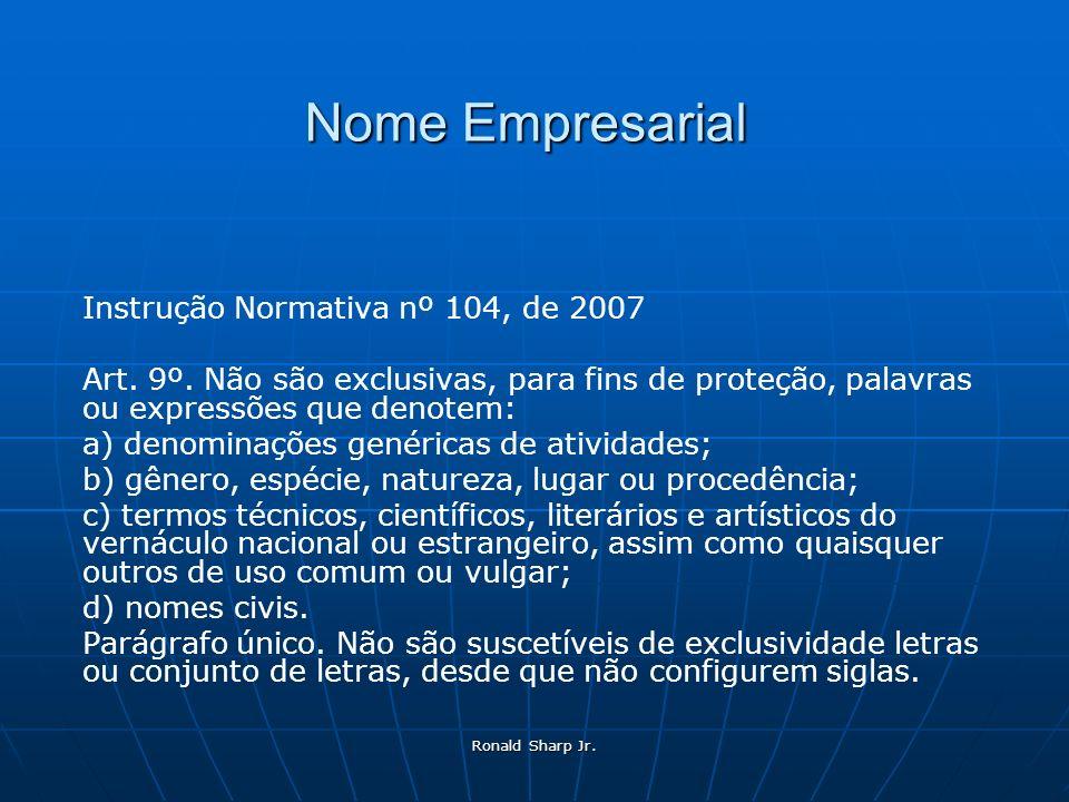 Nome Empresarial Instrução Normativa nº 104, de 2007