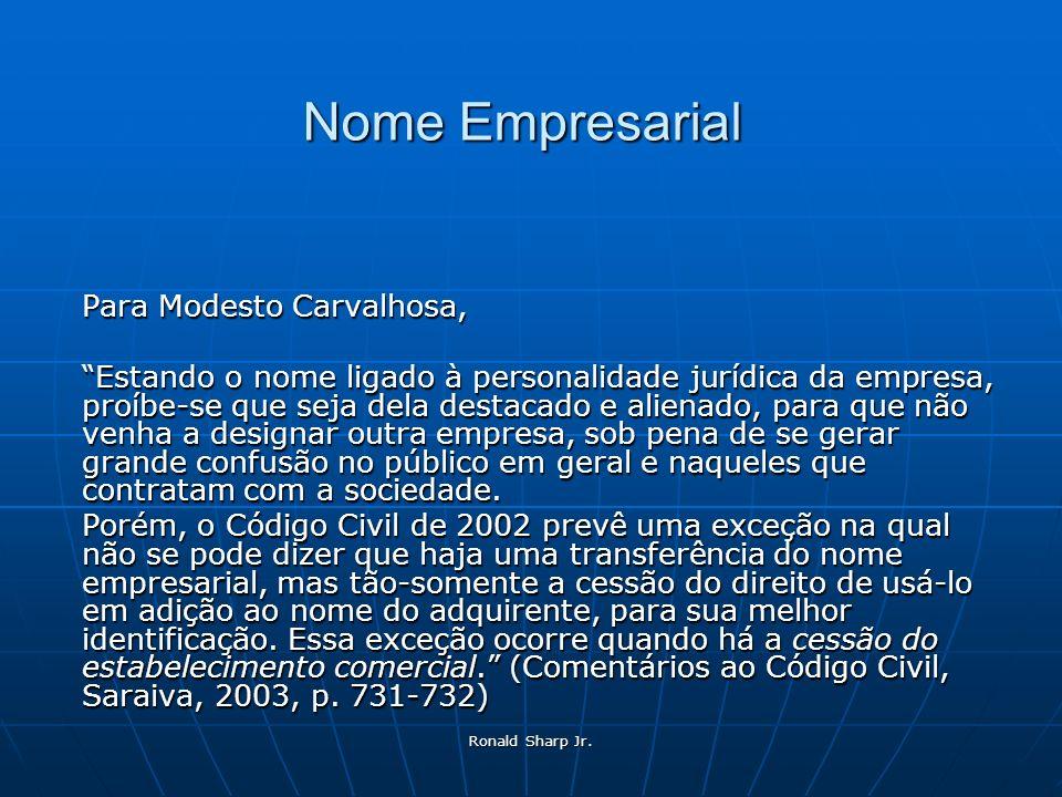 Nome Empresarial Para Modesto Carvalhosa,