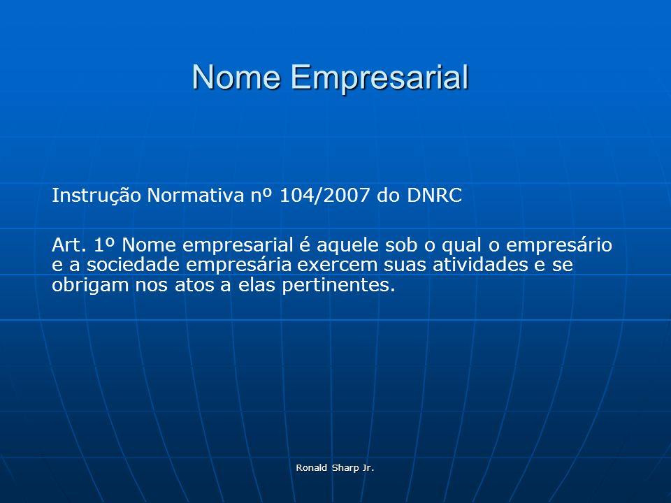 Nome Empresarial Instrução Normativa nº 104/2007 do DNRC