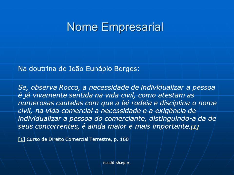 Nome Empresarial Na doutrina de João Eunápio Borges: