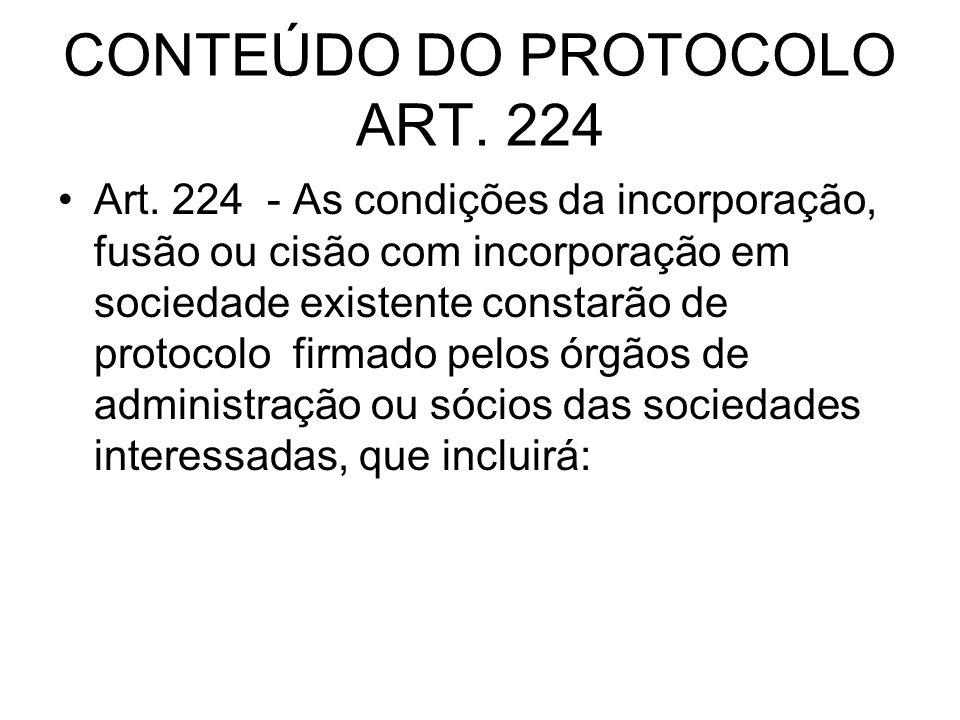 CONTEÚDO DO PROTOCOLO ART. 224