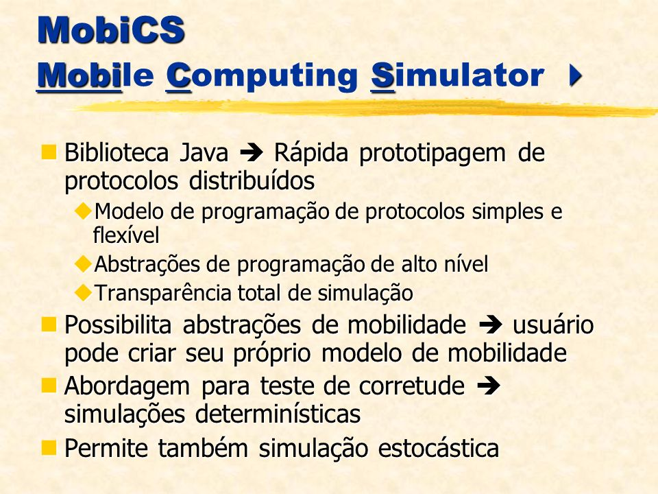 MobiCS Mobile Computing Simulator 