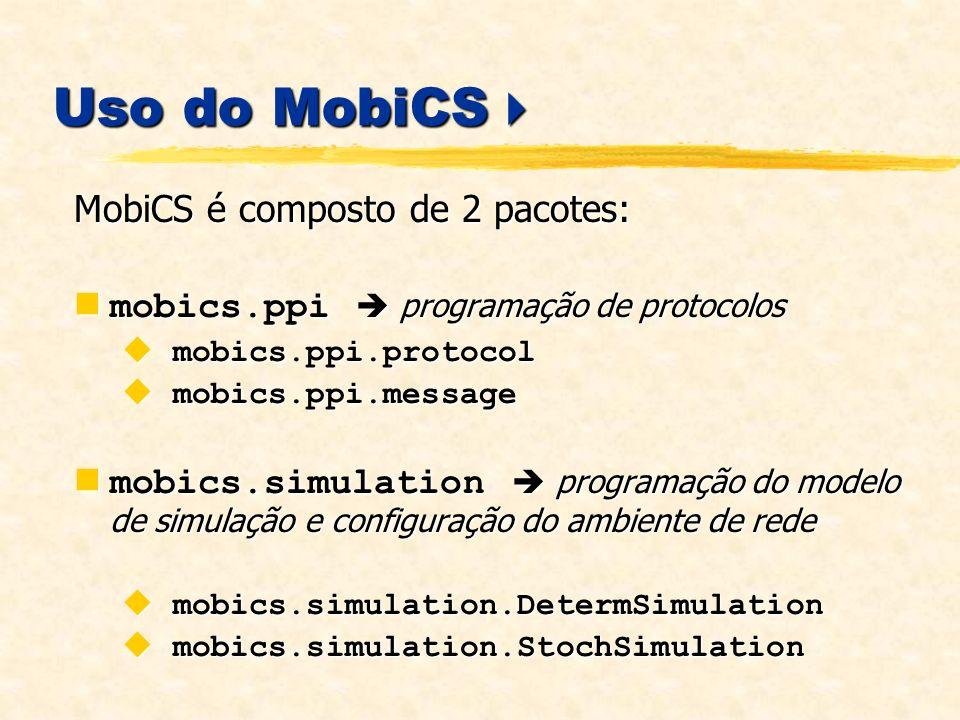 Uso do MobiCS MobiCS é composto de 2 pacotes: