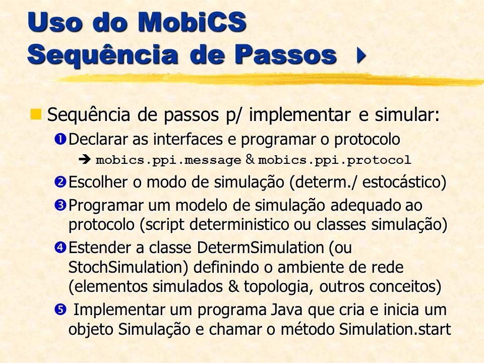 Uso do MobiCS Sequência de Passos 