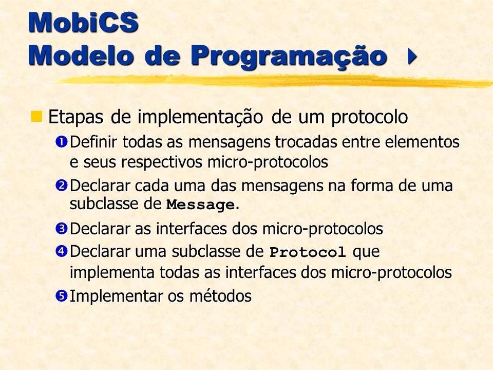 MobiCS Modelo de Programação 
