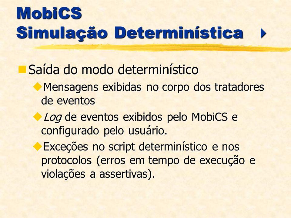 MobiCS Simulação Determinística 
