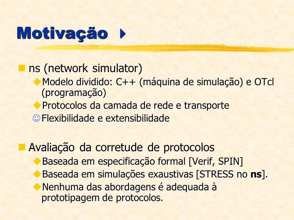 Motivação  ns (network simulator)