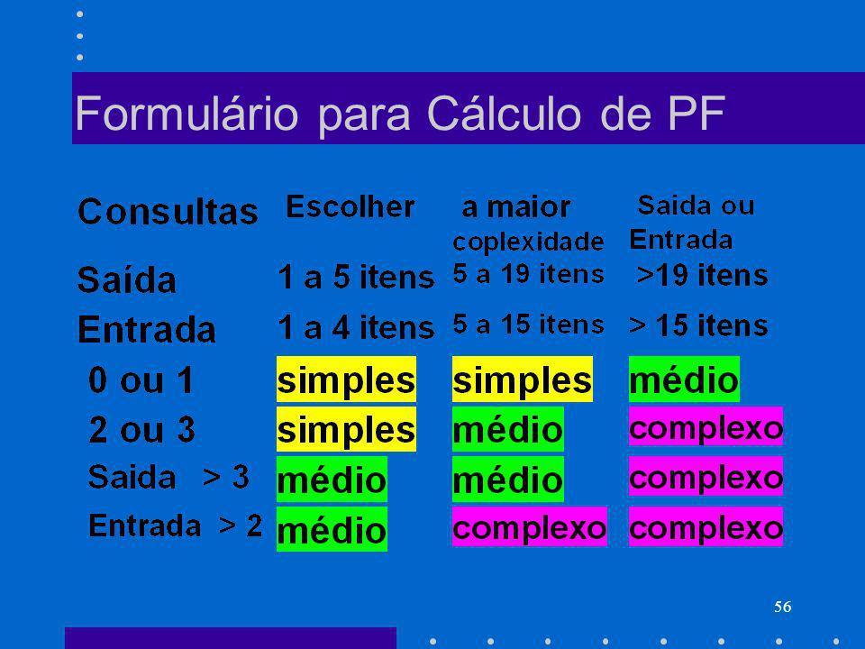 Formulário para Cálculo de PF