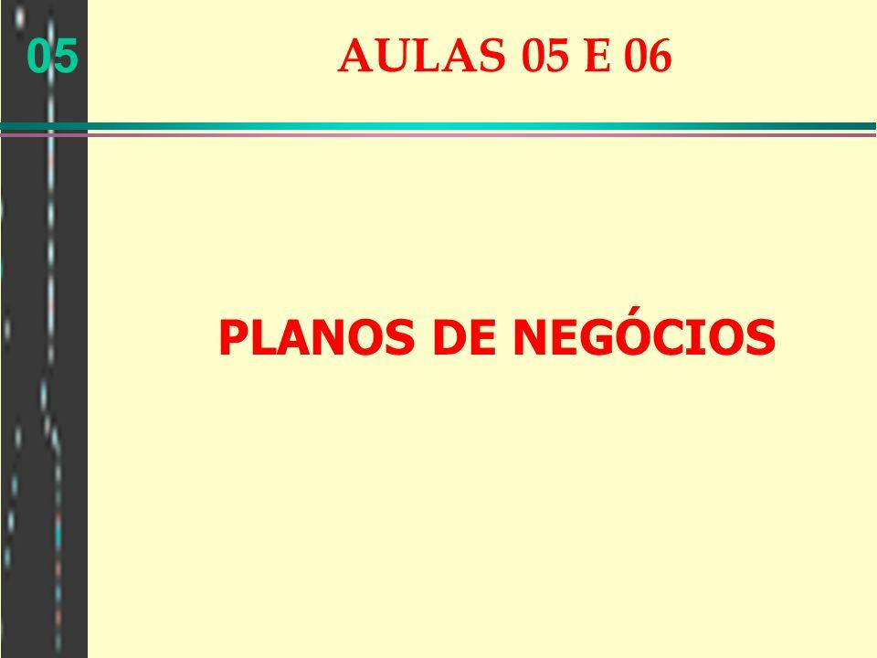 AULAS 05 E 06 PLANOS DE NEGÓCIOS