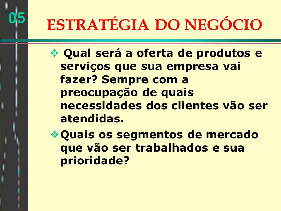 ESTRATÉGIA DO NEGÓCIO