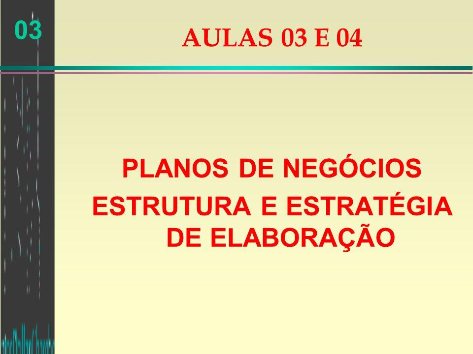 PLANOS DE NEGÓCIOS ESTRUTURA E ESTRATÉGIA DE ELABORAÇÃO