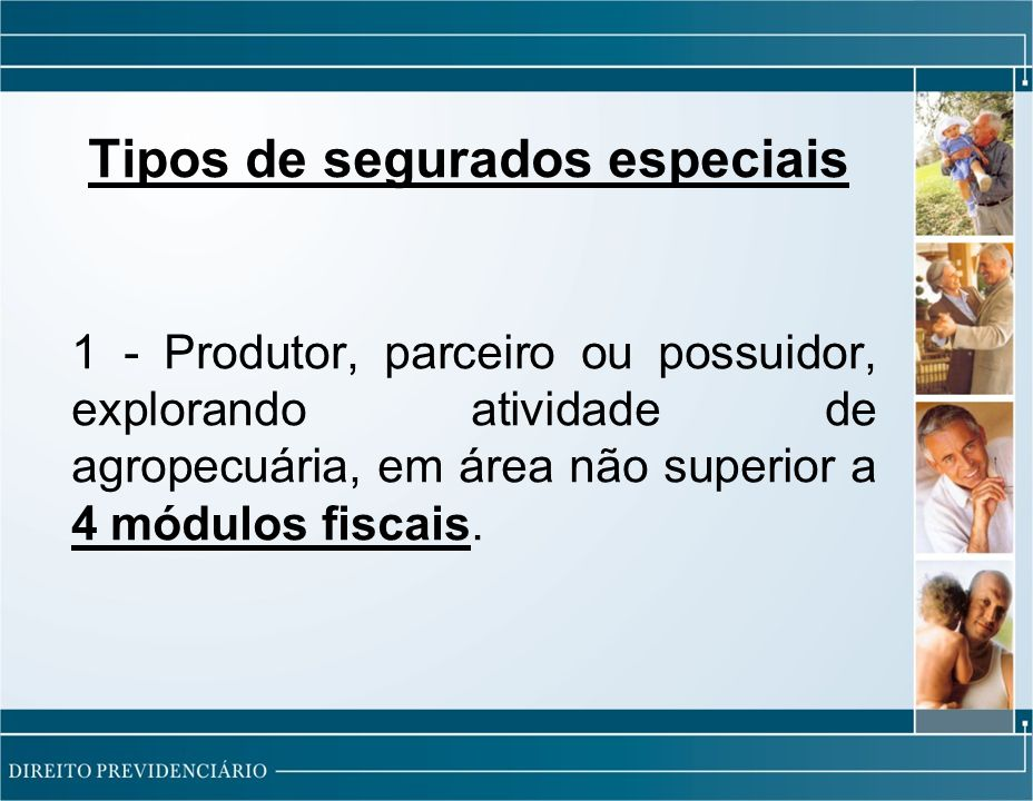Tipos de segurados especiais