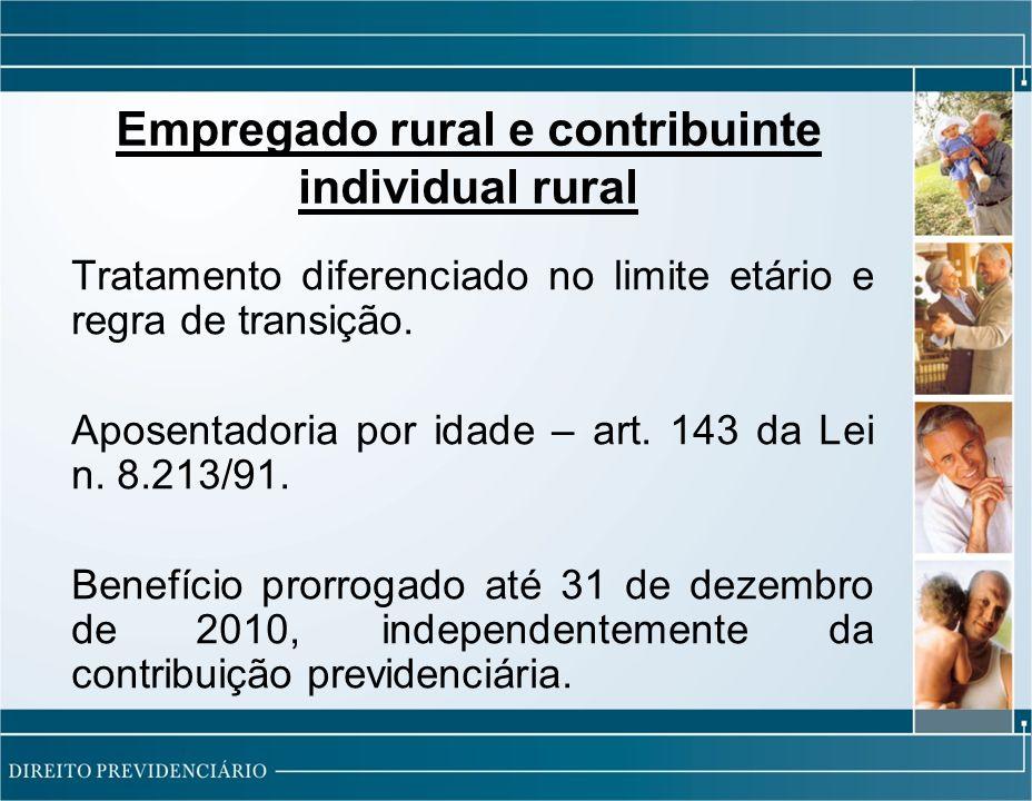 Empregado rural e contribuinte individual rural