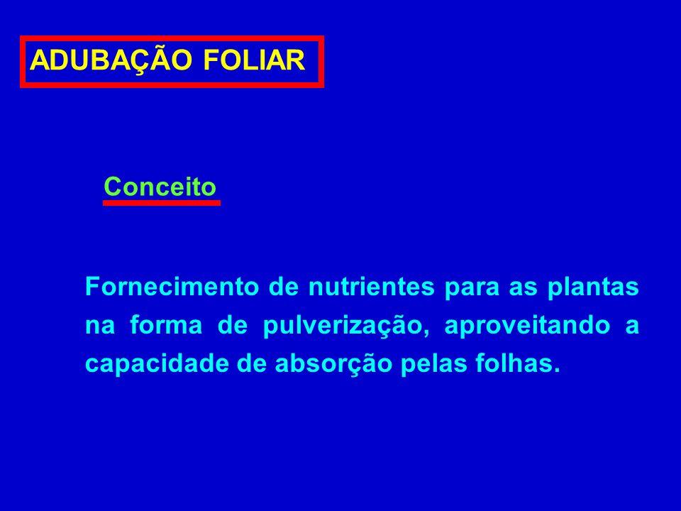 ADUBAÇÃO FOLIAR Conceito