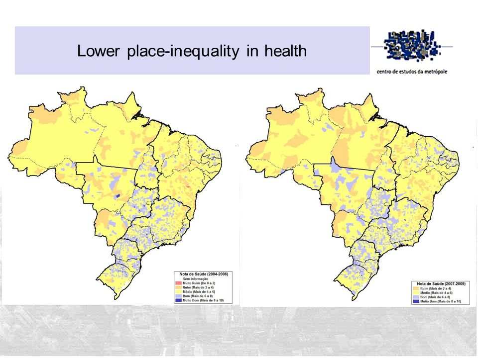 Lower place-inequality in health