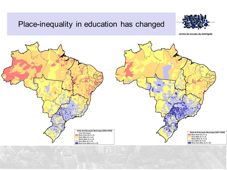 Place-inequality in education has changed