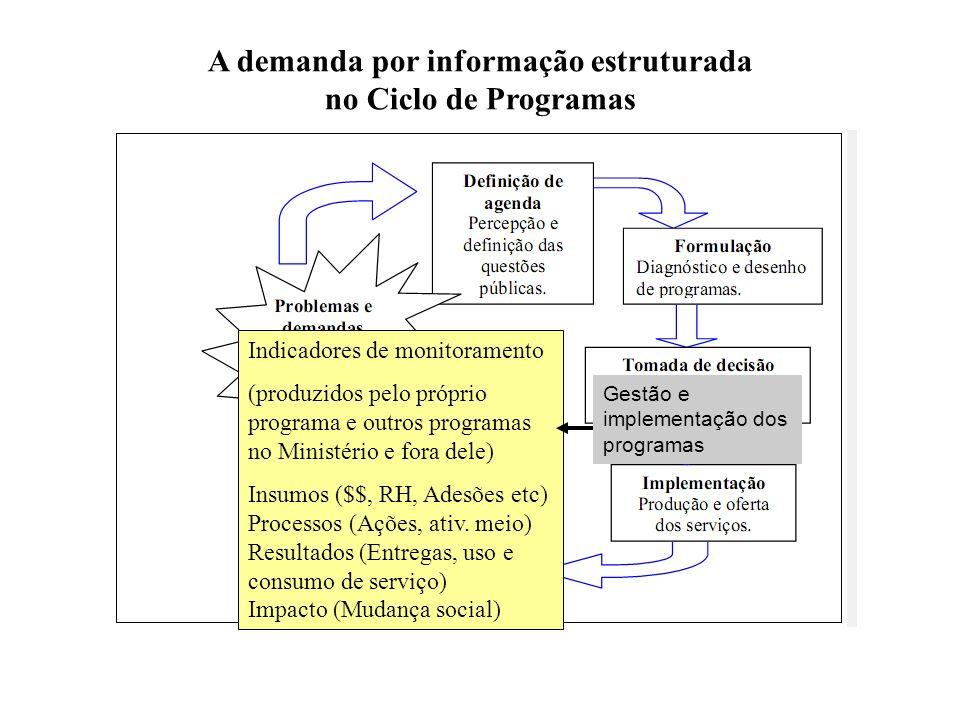 A demanda por informação estruturada no Ciclo de Programas