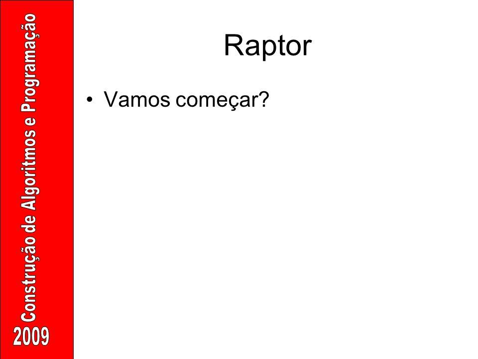 Raptor Vamos começar