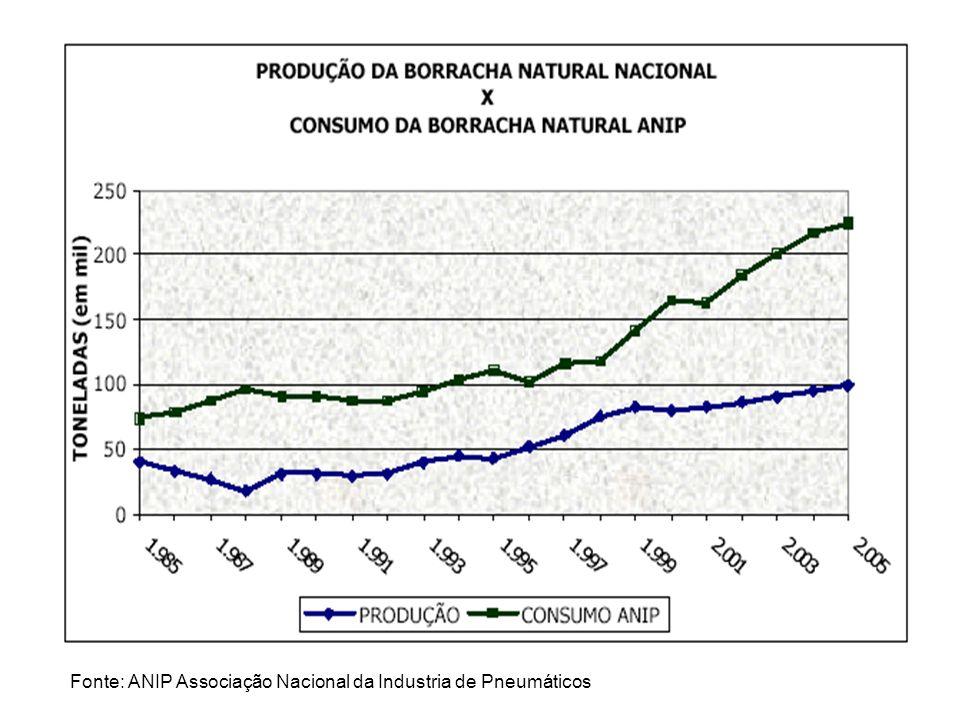 Fonte: ANIP Associação Nacional da Industria de Pneumáticos