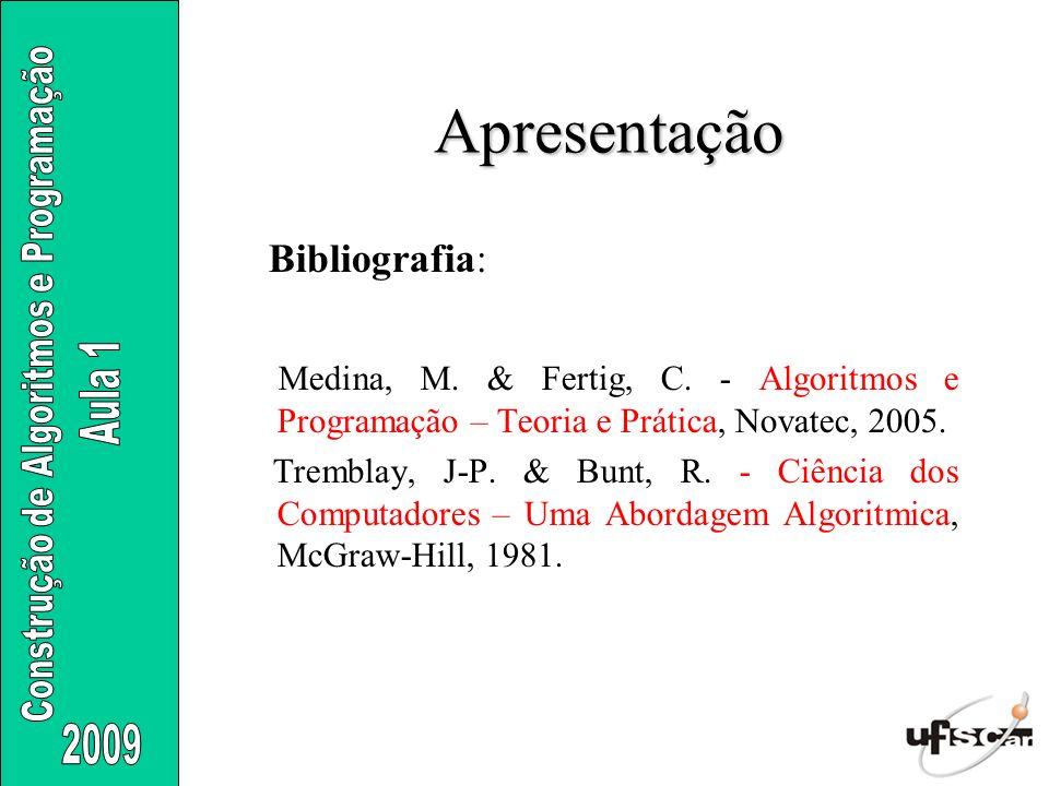Apresentação Bibliografia: