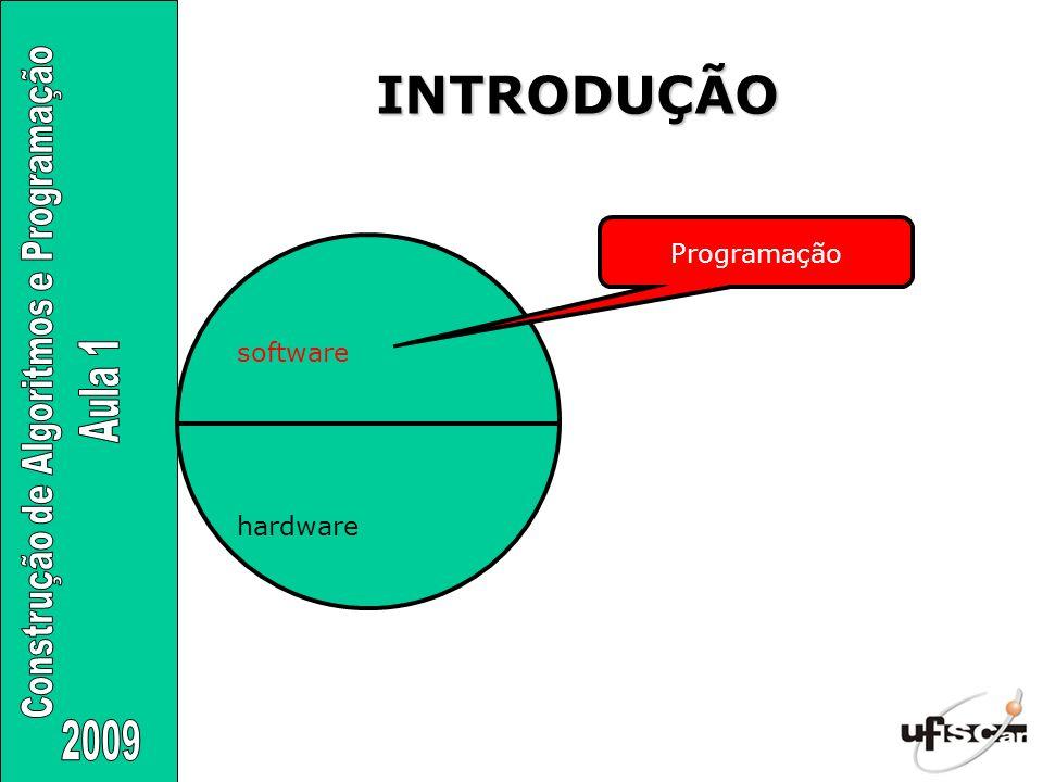 INTRODUÇÃO Programação software hardware