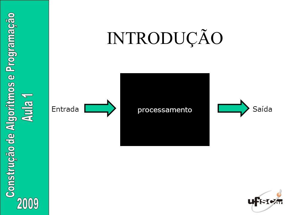 INTRODUÇÃO processamento Entrada Saída