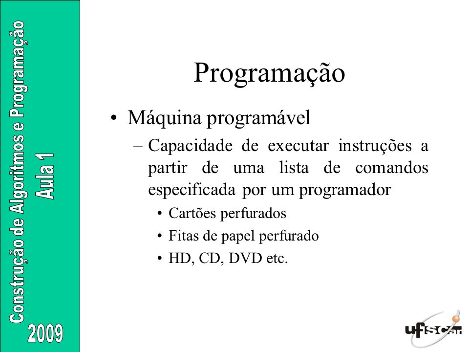 Programação Máquina programável