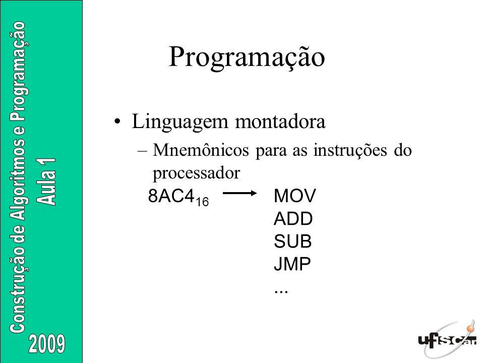 Programação Linguagem montadora