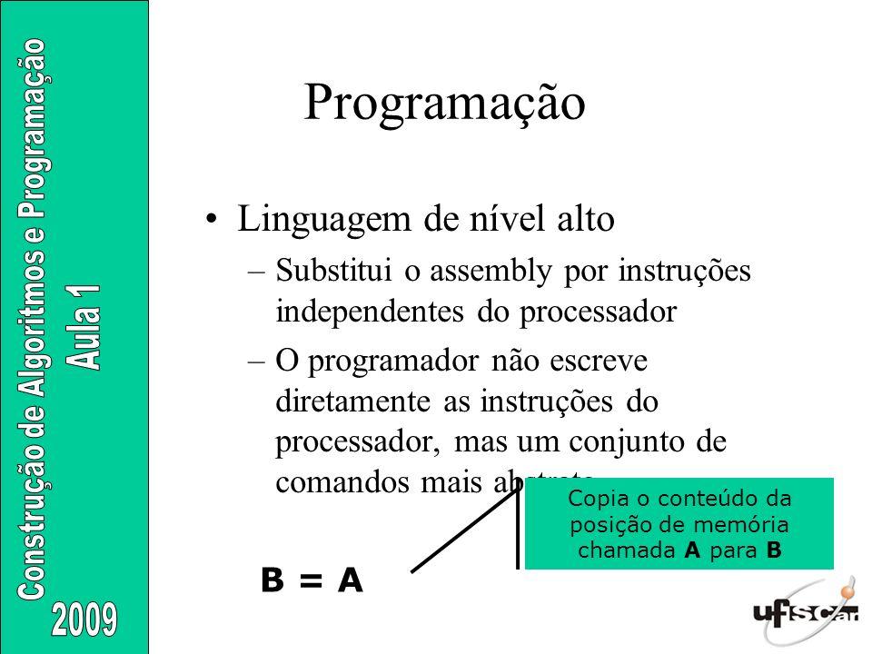 Copia o conteúdo da posição de memória chamada A para B