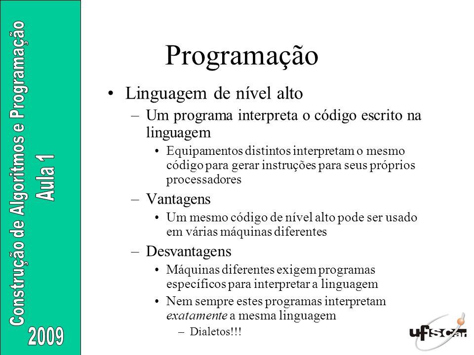 Programação Linguagem de nível alto