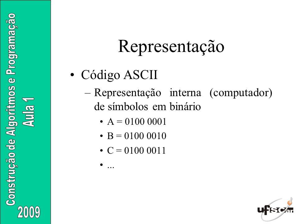 Representação Código ASCII